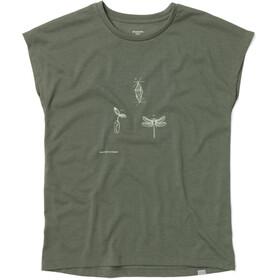 Houdini Big Up Message Koszulka z krótkim rękawem Kobiety, utopian green